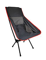 cheap -Camping Chair Multifunctional Portable Breathable Ultra Light (UL) Steel Tube Oxford for 1 person Fishing Beach Camping Autumn / Fall Winter Black Blue