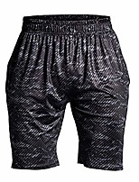 cheap -men's compression shorts quick drying breathable for summer sports running training, black printing, large