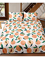 cheap -Peach 3-Piece Duvet Cover Set Hotel Bedding Sets Comforter Cover with Soft Lightweight Microfiber, Include 1 Duvet Cover, 2 Pillowcases for Double/Queen/King(1 Pillowcase for Twin/Single)