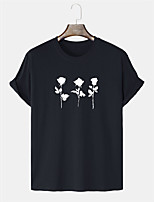 cheap -Men's Unisex T shirt Hot Stamping Graphic Prints Skull Plus Size Print Short Sleeve Daily Tops 100% Cotton Basic Casual Black