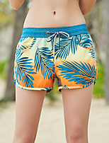 cheap -Women's Swim Shorts Swim Trunks Board Shorts Breathable Quick Dry Drawstring - Swimming Surfing Water Sports Floral / Botanical Summer / Micro-elastic