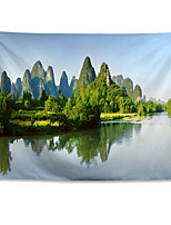 cheap -Wall Tapestry Art Decor Blanket Curtain Hanging Home Bedroom Living Room Decoration Polyester Guilin Scenery