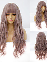 cheap -Synthetic Wig Curly Deep Wave Neat Bang Wig Medium Length A10 A11 A1 A2 A3 Synthetic Hair Women's Cosplay Party Fashion Pink