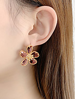 cheap -Women's Earrings Transparent Flower Classic Cute Imitation Diamond Earrings Jewelry Pink / Light Blue For Party Gift Daily 1 Pair