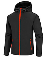 cheap -Men's Hiking Softshell Jacket Hiking Windbreaker Autumn / Fall Winter Summer Outdoor Solid Color Windproof Quick Dry Lightweight Breathable Jacket Hoodie Top Full Length Visible Zipper Fishing