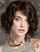 cheap -Synthetic Wig Curly Asymmetrical Wig Short Black / Brown Synthetic Hair Women's Party Fashion Comfy Black Brown