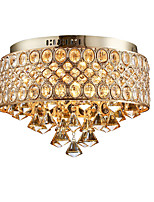 cheap -55cm Ceiling Light Crystal Chandelier Gold Luxury Flush Mount Lights Metal Electroplated Nordic Style 110-120V 220-240V