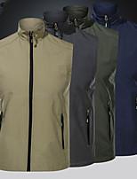 cheap -Men's Hiking Vest / Gilet Fishing Vest Work Vest Sleeveless Vest / Gilet Jacket Top Outdoor Multi-Pockets Quick Dry Lightweight Breathable Autumn / Fall Spring Summer Nylon Army Green Grey Khaki