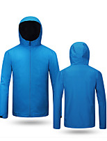 cheap -Men's Hiking Softshell Jacket Hiking Jacket Hiking Windbreaker Autumn / Fall Spring Summer Outdoor Solid Color Waterproof Windproof Quick Dry Lightweight Outerwear Jacket Top Full Length Visible