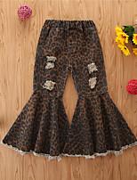 cheap -Toddler Girls' Jeans Leopard Khaki