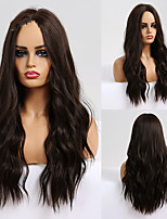 cheap -Synthetic Wig Deep Wave Middle Part Wig Medium Length A1 A2 A3 A4 A5 Synthetic Hair Women's Cosplay Party Fashion Black