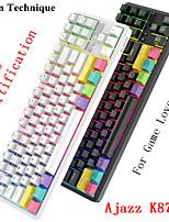 cheap -AJAZZ K870T Wireless Bluetooth USB Wired Dual Mode Mechanical Keyboard Novelty Luminous Programmable RGB Backlit 87 pcs Keys