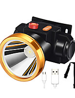 cheap -LED Light LED Emitters with USB Cable Portable Camping / Hiking / Caving Everyday Use Cycling / Bike USB Cold White Light Source Color Black / Yellow