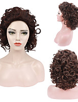 cheap -Cosplay Costume Wig Synthetic Wig Body Wave Spiral Curl Short Bob Wig Light Brown Synthetic Hair For Women's Free Cap