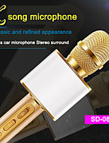 cheap -SD-08 Wireless Microphone Bluetooth Handheld Portable Speaker Home KTV Player