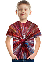 cheap -Kids Boys' Tee Short Sleeve Graphic Children Tops Active Red
