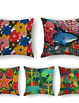 cheap -Cushion Cover 5PCS Short Plush Soft Decorative Square Throw Pillow Cover Cushion Case Pillowcase for Sofa Bedroom 45 x 45 cm (18 x 18 Inch) Superior Quality Machine Washable