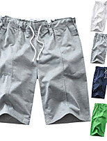 cheap -Men's Swim Shorts Swim Trunks Board Shorts Breathable Drawstring - Swimming Surfing Water Sports Solid Colored Summer