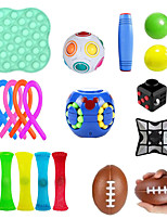 cheap -Squishy Toy Throwing Toy Push Pop Bubble Sensory Fidget Toy Stress Reliever 18 pcs Mini Football Rugby Creative Transformable Cute Stress and Anxiety Relief Fun Strange Toys Decompression Toys Funny