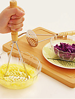 cheap -Potato Masher Pressure Machine Stainless Steel Vegetable Masher with Handle Wooden or Plastic