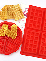 cheap -Waffle Silicone Mold Non-stick Cake Mould Makers Silicone Waffle Bakeware used in Oven Microwave DIY Biscuit Mould Household Cake Baking Modeling