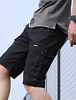 "cheap -Men's Hiking Shorts Hiking Cargo Shorts Solid Color Summer Outdoor 12"" Regular Fit Ventilation Multi-Pockets Breathable Cotton Shorts Bottoms Black Army Green Khaki Beach Traveling M L XL XXL XXXL"