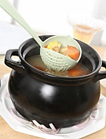 cheap -Wheat Stalk Kitchen Drain Soup Spoon Colander Household  2 in 1 Hanging Long-handled Hot Pot Spoon Porridge Spoon