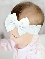 cheap -1pcs Toddler / Infant Girls' Sweet Daily Wear White Solid Colored Bow Lace Hair Accessories White / Black / Blushing Pink One-Size