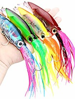cheap -1 pack octopus swimbait with skirt tail, lingcod rockfish jigs hard fishing lure, lifelike swimbait octopus bait, squid fishing lures for saltwater and freshwater (red)