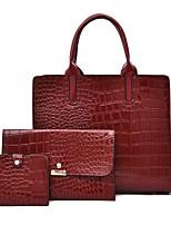 cheap -Women's Bags Bag Set Date Office & Career Bag Sets Handbags Black Red Brown