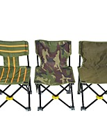 cheap -Camping Chair Multifunctional Portable Breathable Ultra Light (UL) Oxford for 1 person Fishing Beach Camping Autumn / Fall Winter Random Colors