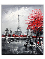 cheap -Oil Painting Hand Painted Vertical Abstract Landscape Contemporary Rolled Canvas (No Frame)