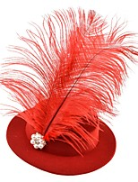 cheap -Pearls Elegant Pearl Fascinators with Feather / Pearls 1 Piece Special Occasion / Party / Evening Headpiece