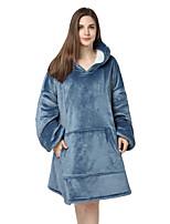cheap -Adults' Kigurumi Pajamas Anime Onesie Pajamas Flannel Fabric Blue Cosplay For Men and Women Animal Sleepwear Cartoon Festival / Holiday Costumes