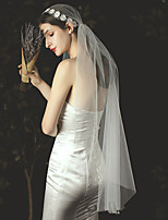 cheap -One-tier Classic Wedding Veil Elbow Veils with Solid Tulle
