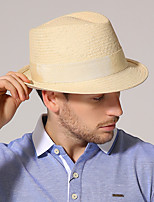 cheap -Solid Color Pastoral Straw Hats with Solid / Trim 1 Piece Casual / Holiday Headpiece
