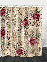 cheap -Beautiful imitation Embroidery Flowers Print Waterproof Fabric Shower Curtain for Bathroom Home Decor Covered Bathtub Curtains Liner Includes with Hooks