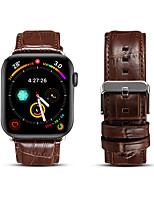 cheap -Watch Band for Apple Watch Series 6 / SE / 5/4 44mm 40mm / Apple Watch Series 3/2/1 38mm 42mm Apple Business Band Genuine Leather Wrist Strap