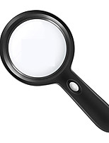 cheap -Lighted Magnifying Glass-10X Handheld Reading Magnifier Glass with 12 LED Lights for Seniors & Kids- Large and Real Magnifying Lens for Seniors Reading, Soldering, Inspection, Coins, Jewelry, Explorin