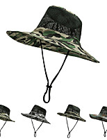 cheap -Men's Sun Hat Fishing Hat Hiking Hat Outdoor UV Sun Protection Windproof UPF50+ Quick Dry Spring Summer Hunting Ski / Snowboard Fishing Army Green Khaki Camouflage Gray / Breathable