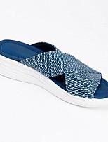 cheap -Women's Sandals Open Toe Tissage Volant Black Light Green Blue