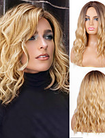 cheap -Short Wavy Wig Blonde Ombre Brown Synthetic Heat Resistant Fiber Wigs For Black Women For Wedding Cosplay Women's Daily