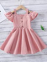 cheap -Toddler Little Girls' Dress Graphic Print Blushing Pink Midi Short Sleeve Sweet Dresses Regular Fit