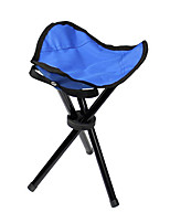 cheap -Camping Stool Camping Slacker Chair Tri-Leg Stool Portable Ultra Light (UL) Multifunctional Foldable Steel for 1 person Fishing Beach Camping Traveling Autumn / Fall Winter Red Blue Green