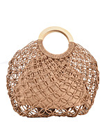 cheap -Women's Bags Top Handle Bag Straw Bag Holiday Beach Straw Bag Handbags Khaki Beige