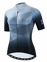 cheap -cycling jersey women bike shirt top pro team summer short sleeve mtb bicycle clothing pockets grey size m