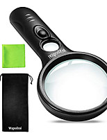 cheap -Magnifying Glass with Light, 3X 45X High Magnification, LED Handheld Lighted Magnifier, Suitable for Reading, Jewellery, Crafts, Lnspection, Science (Black)