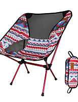 cheap -Camping Chair Multifunctional Portable Breathable Ultra Light (UL) Aluminum Alloy Oxford for 1 person Fishing Beach Camping Autumn / Fall Winter Yellow Red Orange Coffee