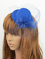 cheap -Classical Romantic Tulle Fascinators with Bowknot / Floral 1 Piece Special Occasion / Party / Evening Headpiece