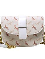 cheap -Women's Bags PU Leather Crossbody Bag Chain Daily 2021 Handbags Chain Bag coffee White
